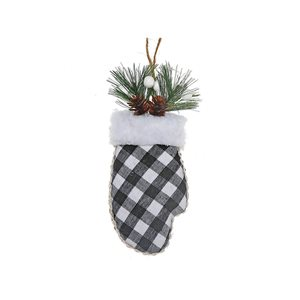 IH Casa Decor Black Mitten Ornament Set - 12-Pack