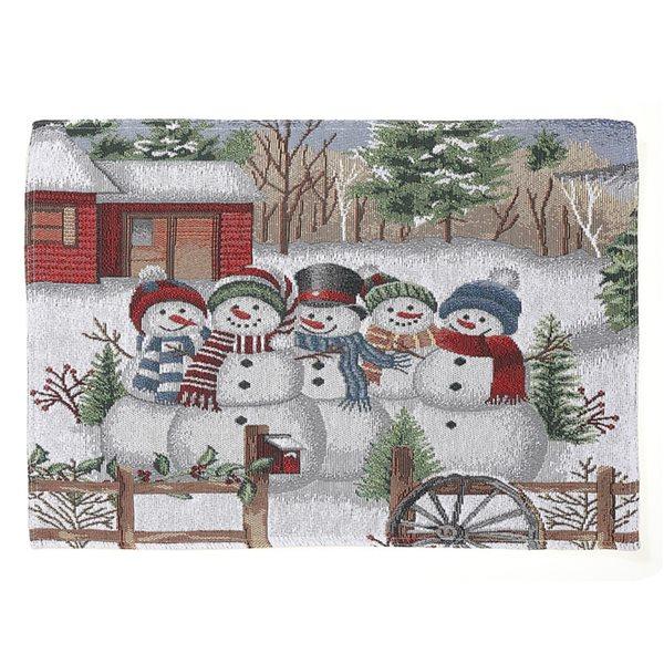 IH Casa Decor Multicolour Five Snowman Placemat - Set of 12