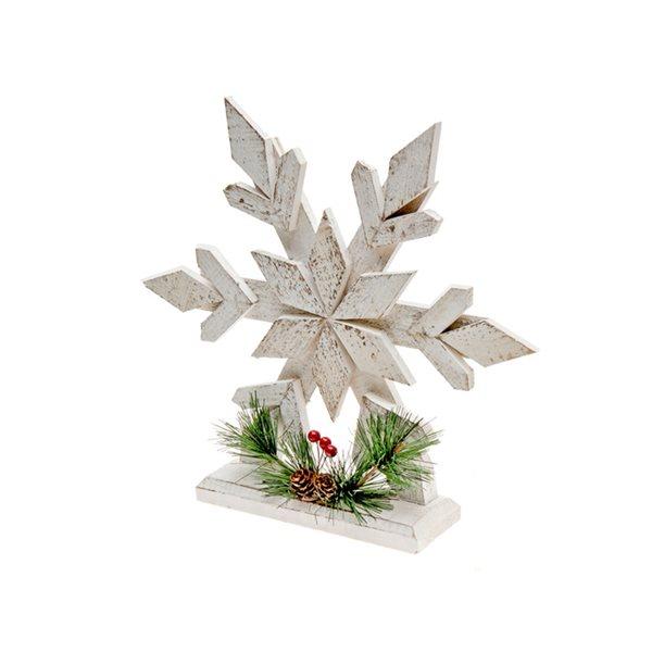 IH Casa Decor White Snowflake Christmas Decoration