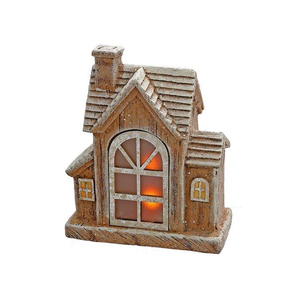 Décoration de Noël IH Casa Decor maison avec lumière DEL, brun