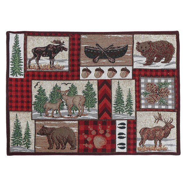 IH Casa Decor Multicolour Winter Animals Placemat - Set of 12