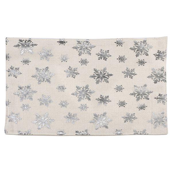 IH Casa Decor Silver/White Snowflake Placemat - Set of 12