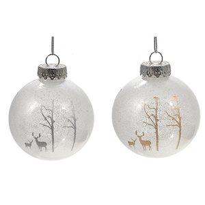 IH Casa Decor White Reindeers Ornament Set - 12-Pack