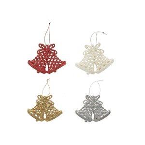 IH Casa Decor Assorted Colours Bell Ornament Set - 16-Pack