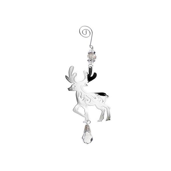 IH Casa Decor Silver Reindeer Ornament Set - 12-Pack