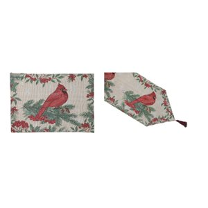 IH Casa Decor Fitted Table Cover Set with Lone Cardinal
