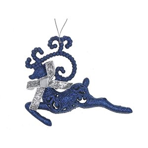 IH Casa Decor Blue Reindeer Ornament Set - 12-Pack