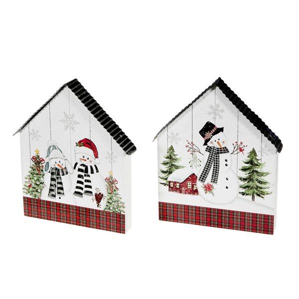 IH Casa Decor Snowman Christmas Decoration - Set of 2