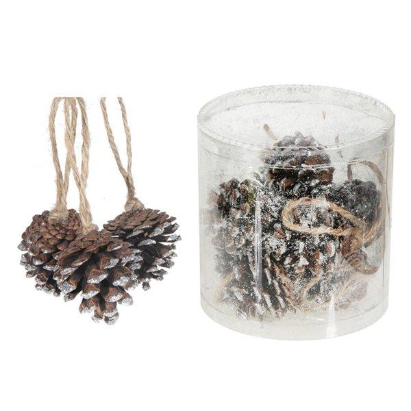 IH Casa Decor Silver Pine Cone Ornament Set - 12-Pack