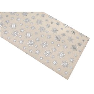 IH Casa Decor Fitted Silver Snowflake Runner