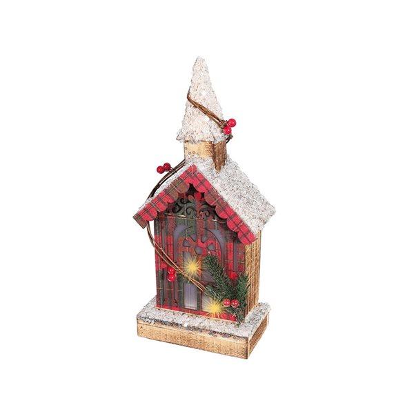 IH Casa Decor Wood Church Christmas Decoration