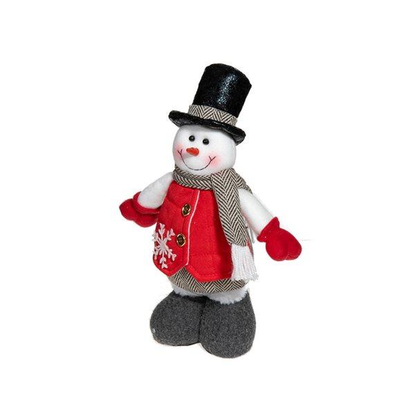 Décoration de Noël IH Casa Decor bonhomme de neige blanc debout