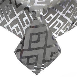 IH Casa Decor Fitted Trellis Silver Tablecloth