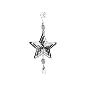 IH Casa Decor Metal Star Ornament Set - 6-Pack