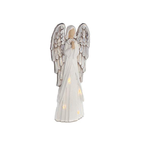 IH Casa Decor LED White Praying Angel Christmas Decoration