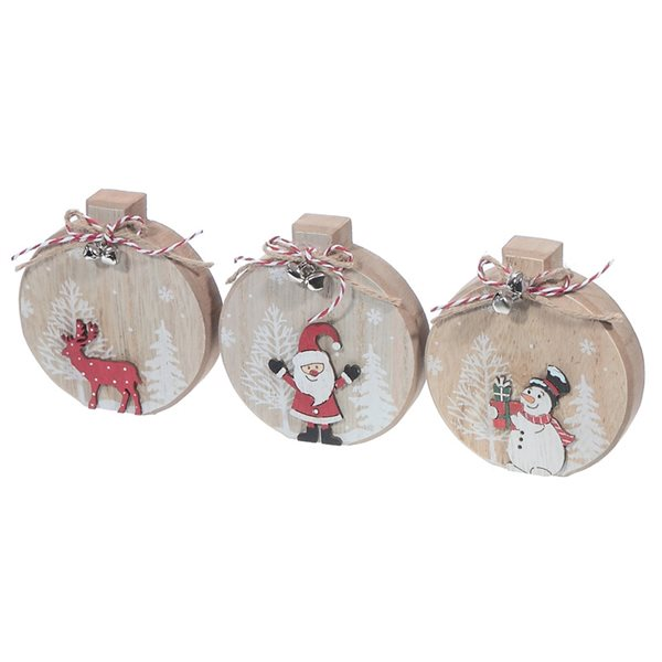 IH Casa Decor Wooden Christmas Characters Christmas Decoration - Set of 6