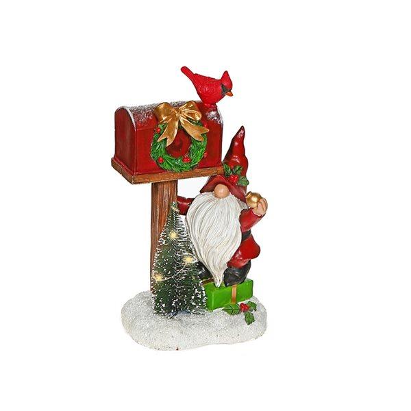 Décoration de Noël IH Casa Decor gnome avec boîte aux lettres