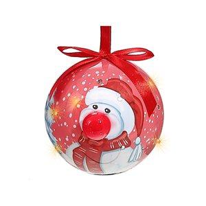 IH Casa Decor Multicolour Snowman Ornament Set with Red Light - 12-Pack