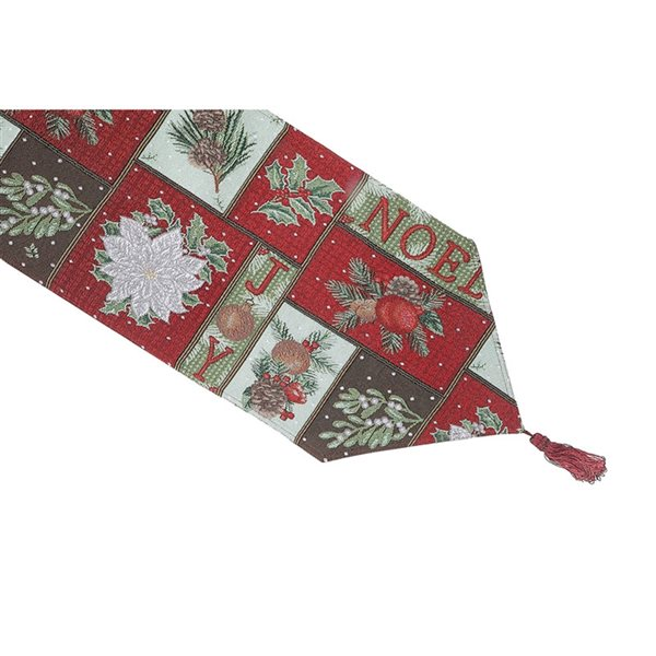 IH Casa Decor Fitted 36-in Tapestry Runner with Christmas Pattern