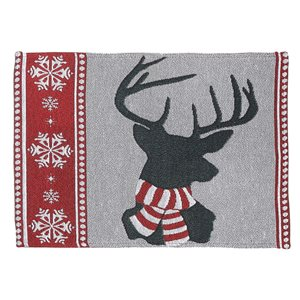 IH Casa Decor Fitted 54-in Tapestry Runner with Reindeer Head