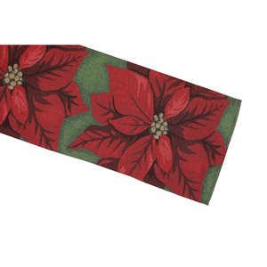 IH Casa Decor Fitted Tapestry Runner with Poinsettia Pattern