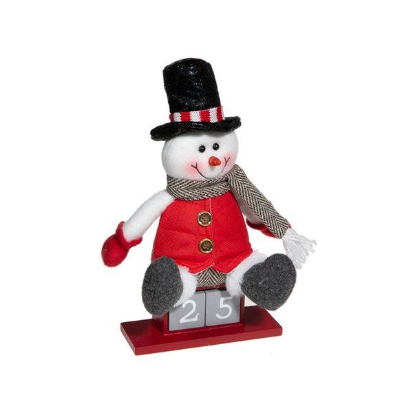 Calendrier de l'Avent IH Casa Decor avec bonhomme de neige en peluche