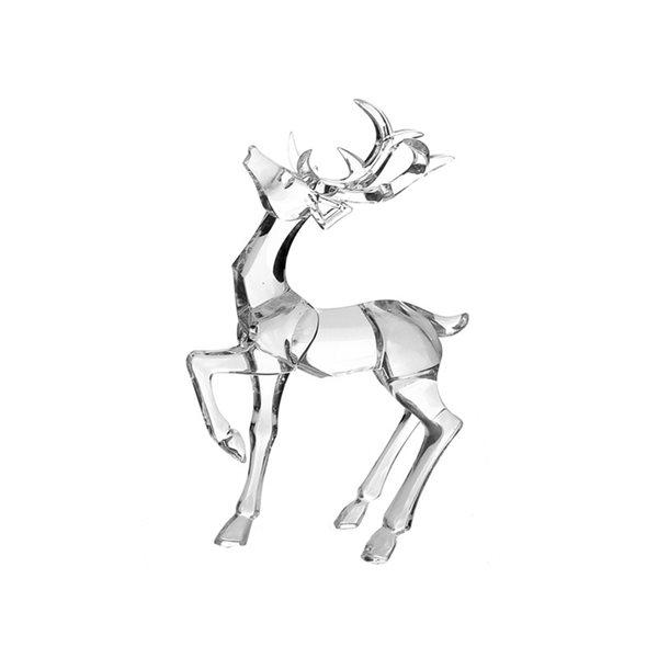 Décoration de Noël IH Casa Decor renne argent en acrylique