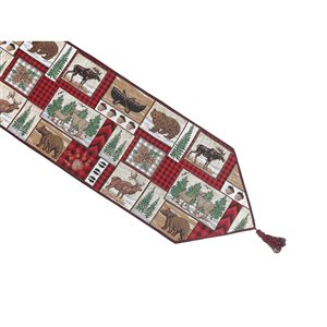 IH Casa Decor Fitted 36-in Tapestry Runner with Winter Animals
