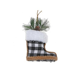 IH Casa Decor Black Boot Ornament Set - 12-Pack