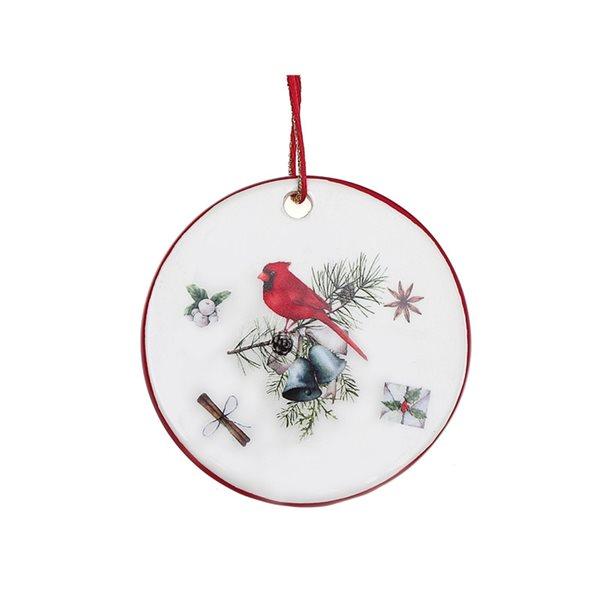 IH Casa Decor Multicolour Cardinal Flat Ornament Set - 6-Pack