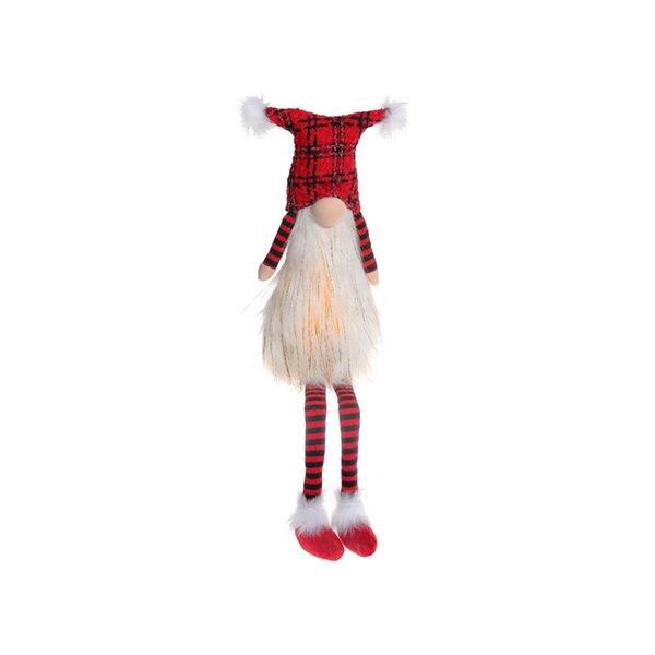 IH Casa Decor White/Red Gnome Christmas Decoration