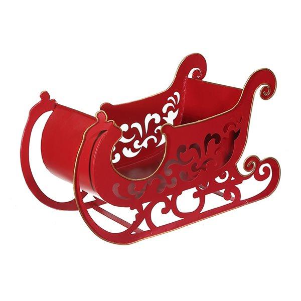 Décoration de Noël IH Casa Decor traîneau rouge