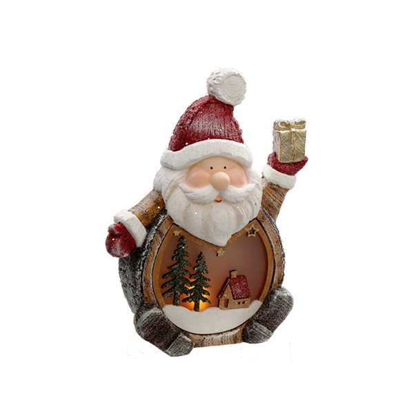 Décoration de Noël IH Casa Decor père Noël avec cadeau à lumière DEL