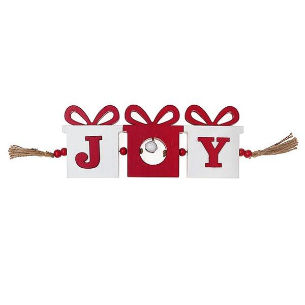 Décoration de Noël IH Casa Decor rouge et blanc en forme de boîtes-cadeaux