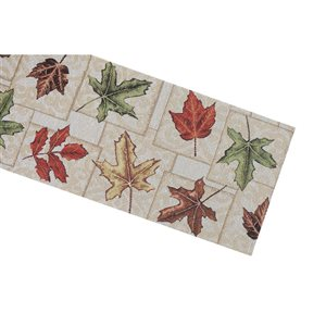 IH Casa Decor Fitted Tapestry Runner with Leaves