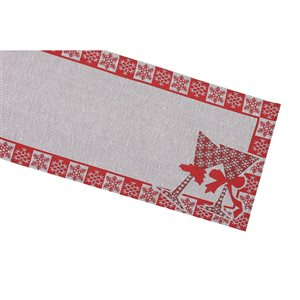 IH Casa Decor Fitted Tapestry Runner with Snowflakes Border