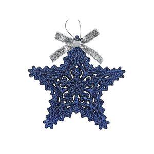 IH Casa Decor Blue Star Ornament Set - 12-Pack