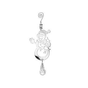 IH Casa Decor Silver Snowman Ornament Set - 12-Pack