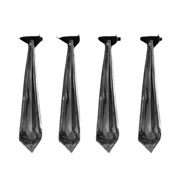 IH Casa Decor Black Icicle Ornament Set - 4-Pack