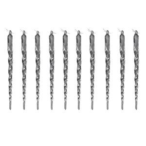 IH Casa Decor Clear Icicle Ornament Set - 10-Pack