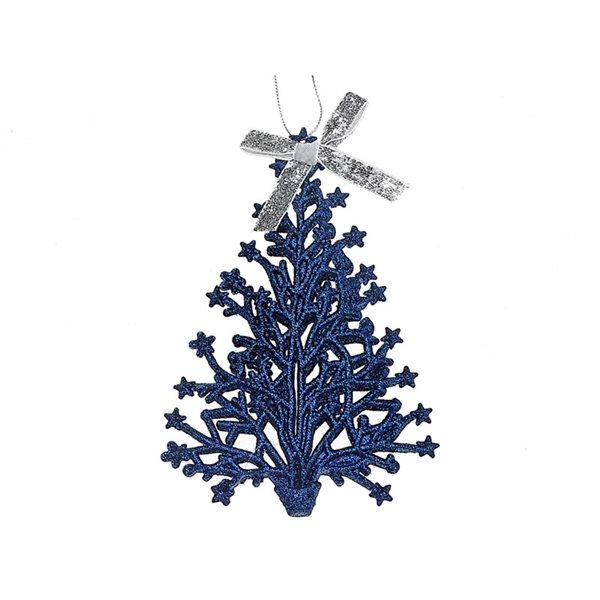 IH Casa Decor Blue Christmas Tree Ornament Set - 12-Pack