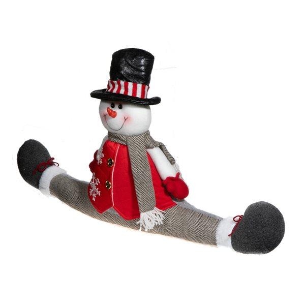 Décoration de Noël IH Casa Decor butoir de porte-bonhomme de neige