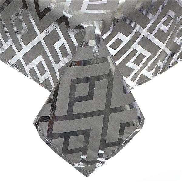 IH Casa Decor Fitted Trellis Grey Tablecloth