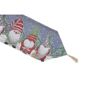 IH Casa Decor Fitted 36-in Tapestry Runner with Gnomes