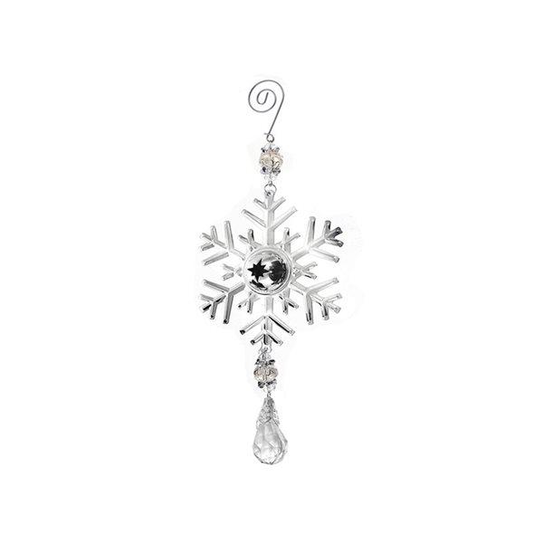 IH Casa Decor Silver Snowflake Ornament Set - 6-Pack