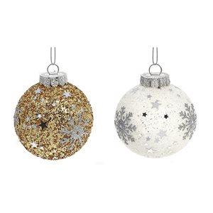 IH Casa Decor Assorted Colours Winter Snowflake Ornament Set - 12-Pack