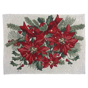 IH Casa Decor Fitted 54-in Tapestry Runner with Poinsettia Bundle