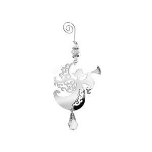 IH Casa Decor Silver Angel Ornament Set - 12-Pack