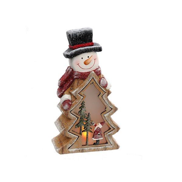 IH Casa Decor LED Snowman with Tree Christmas Decoration