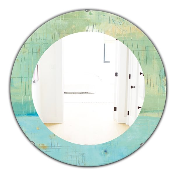 DesignArt 24-in x 24-in Dreaming of the Shore I Round Polished Wall Mirror
